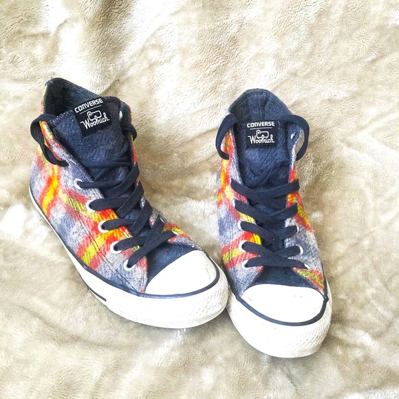 Converse Shoes - Converse X Woolrich plaid high tops
